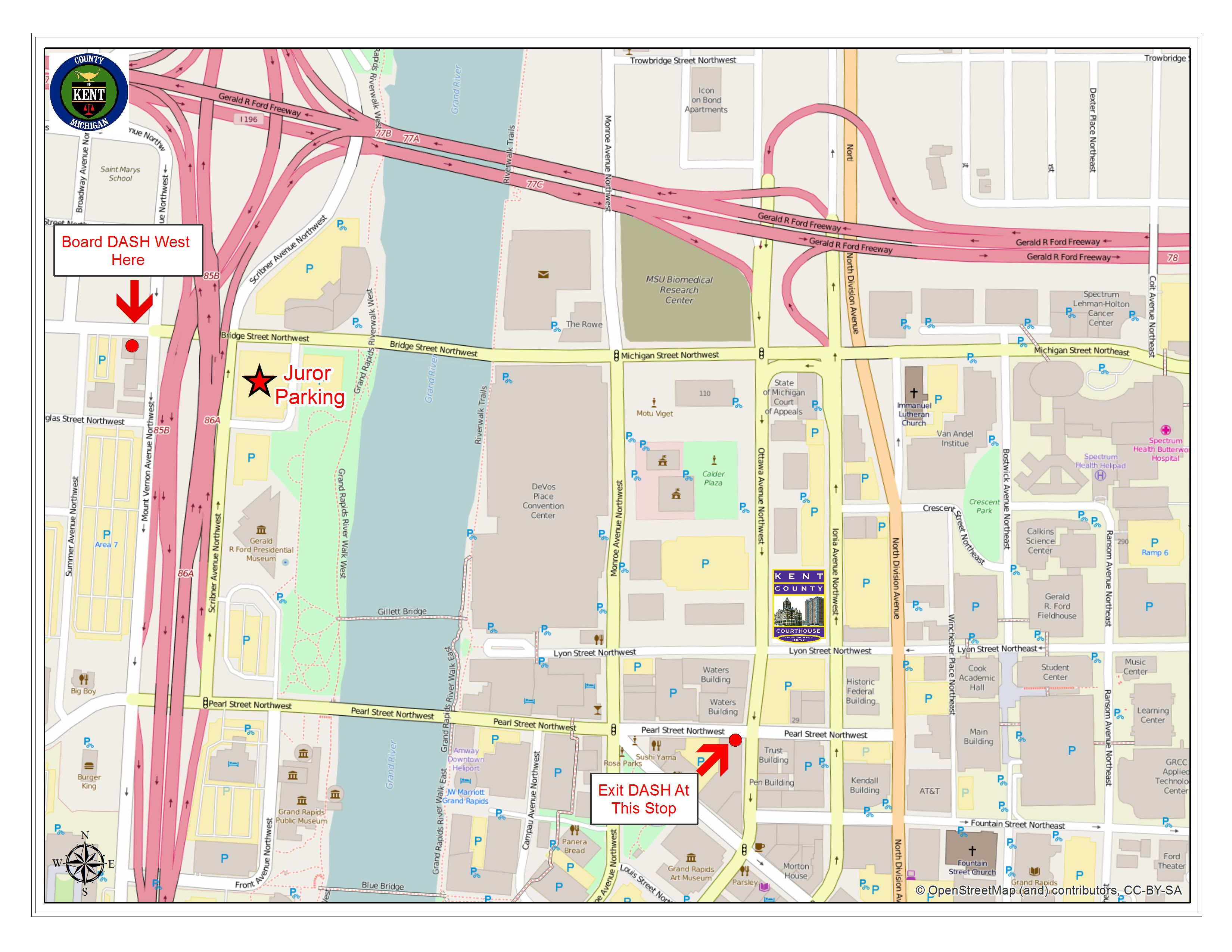 Jury Management Division Kent County Michigan - Map of us circuit court districts